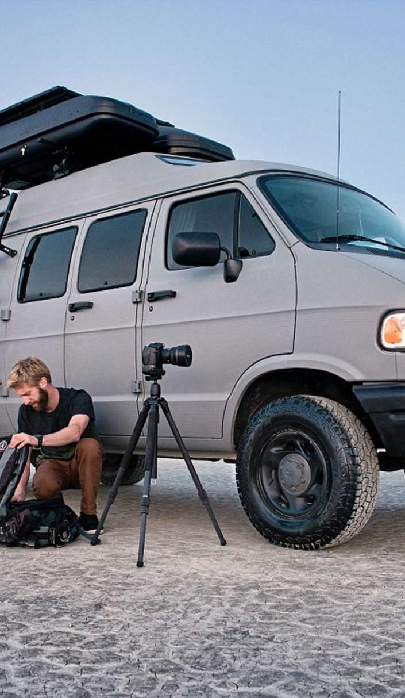 Dude turns grandma's 1994 Dodge Ram van into a badass road tripping machine!