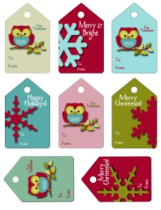 Cute FREE Printable gift tags...can be used for Christmas party favors or gifts...