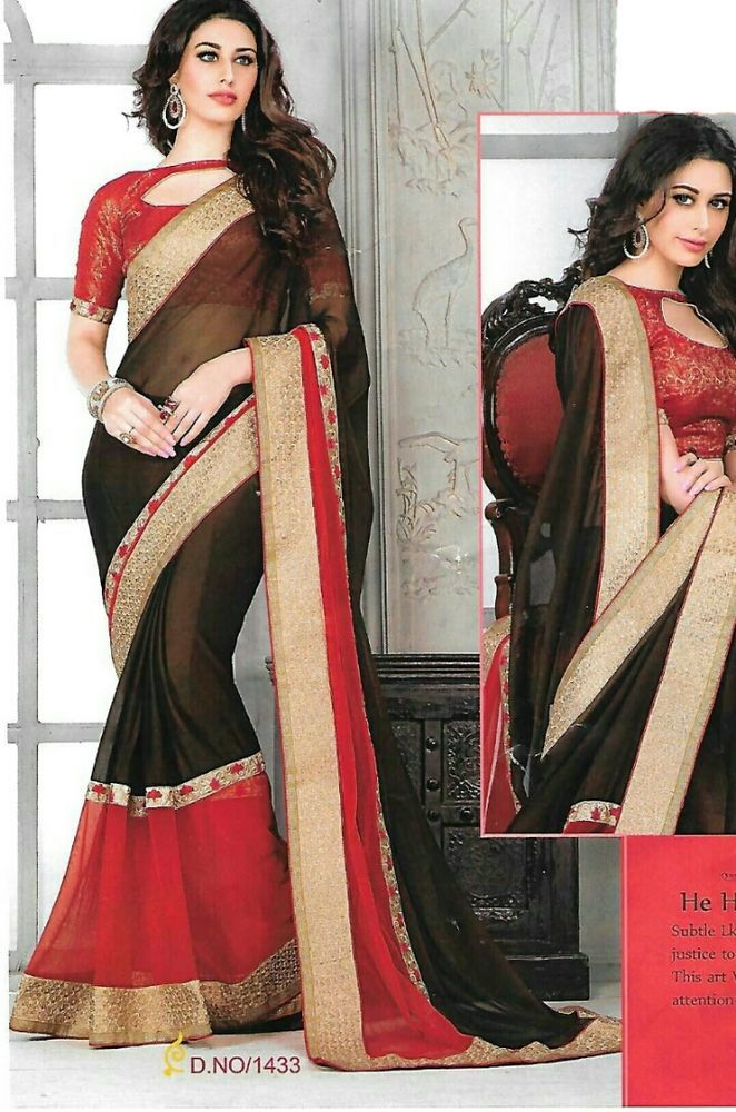 Designer/Party wear/Sarees/With Unstiched Blouse