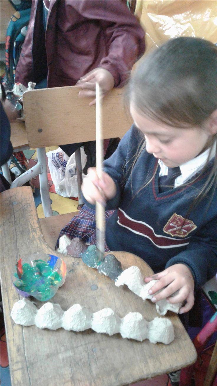Explorando el arte con material reutilizable