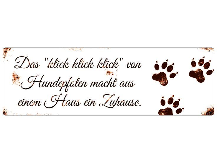 Blechschild Shabby DAS KLICK KLICK Hund Schild von Interluxe via dawanda.com