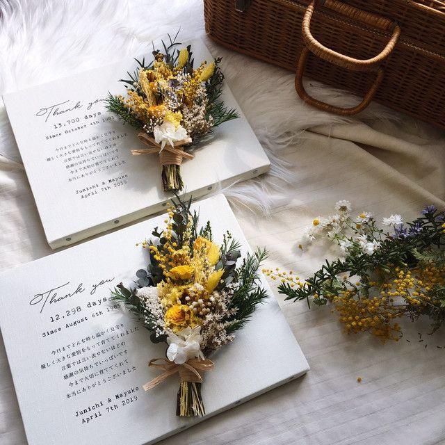 2点セット 横型 子育て感謝状 ウェディング Diy Store Pbw Dried Flowers Dried Bouquet Wedding
