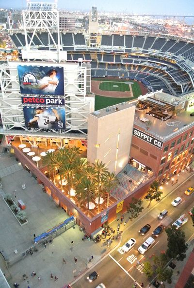 San Diego Padre Stadium - A view from above Art Print