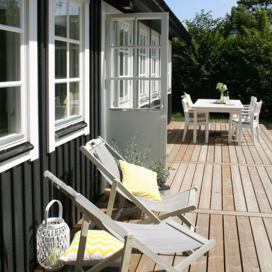 Terras het heerlijke lange terras bij het huisje van hout holiday at the beach pinterest - Terras hout ...