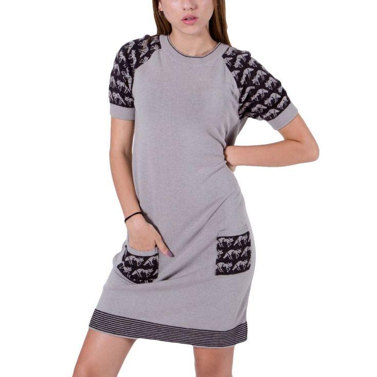 KOOKAI Πλεκτό midi ζακάρ φόρεμα