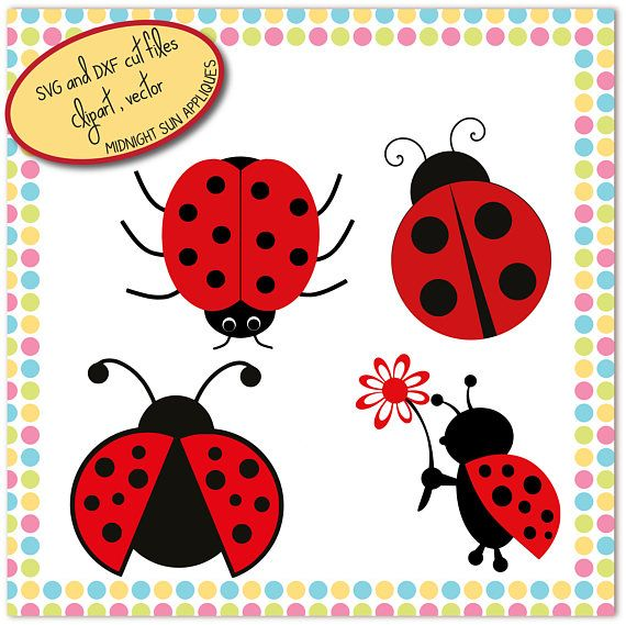 Lady bug SVG Lady bug cut file dxf clipart cute svg