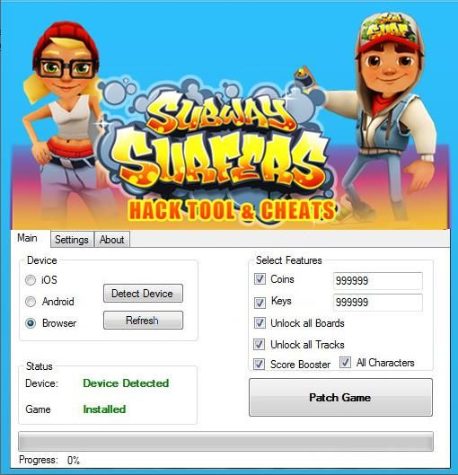 Subway Surfers hack cheat android iOS Facebook