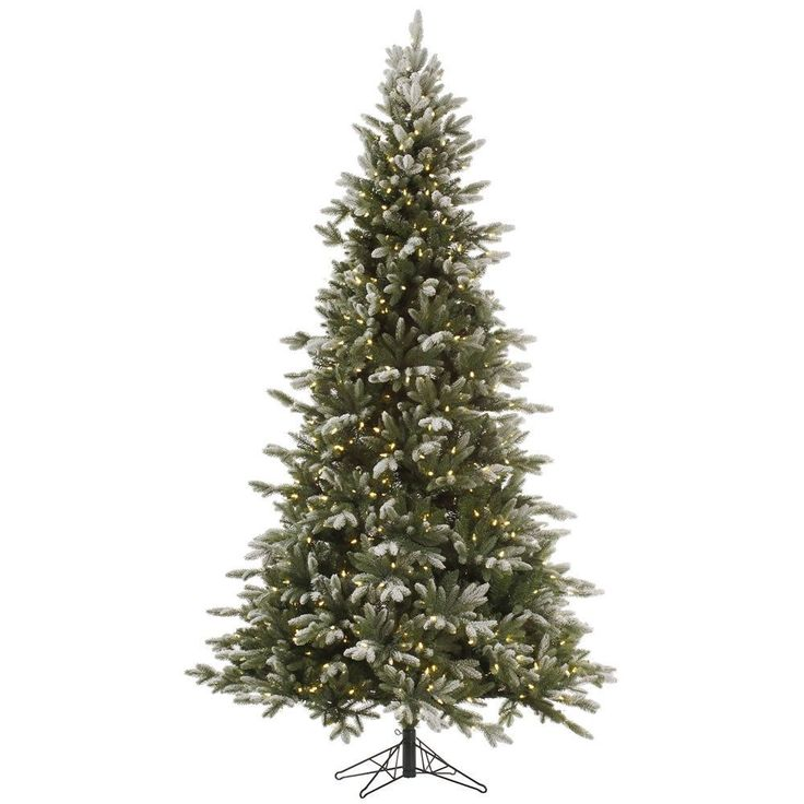 Vickerman 7.5-foot Frosted Balsam Tree with 750 Dura-Lit Clear Lights (7.5' x 54 Frosted Balsam 750CL Dura-Lit), Green