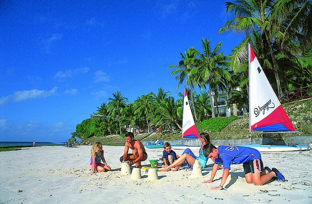 Family fun on the beach - Mombasa