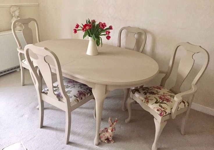 The Table Stands On Beautiful Queen Anne Legs And Has Been Cleaned, Sanded And Hand Painted Several Times In Annie Sloan Chalk Paint In A Soft Cream / Putty Stone Colour that Would Sit In A Range Of Interior Colour Schemes. | eBay!