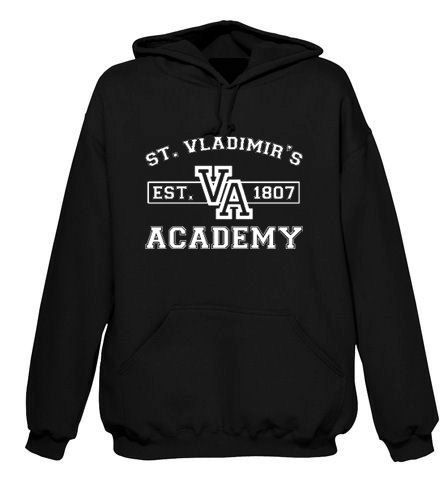 OMG I WANT THIS!!!!!!!!!! WHO LOVES ME ENOUGH TO GET THIS FOR ME!!!  Vampire Academy inspired Black Hoodie by AlpineStoneApparel, $24.95