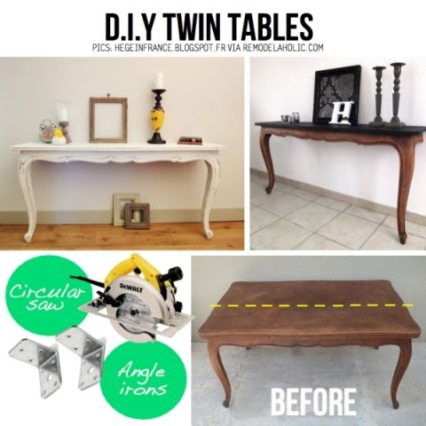DIY Recycling Ideas. I would put 2 legs on the back though so you could move the table.