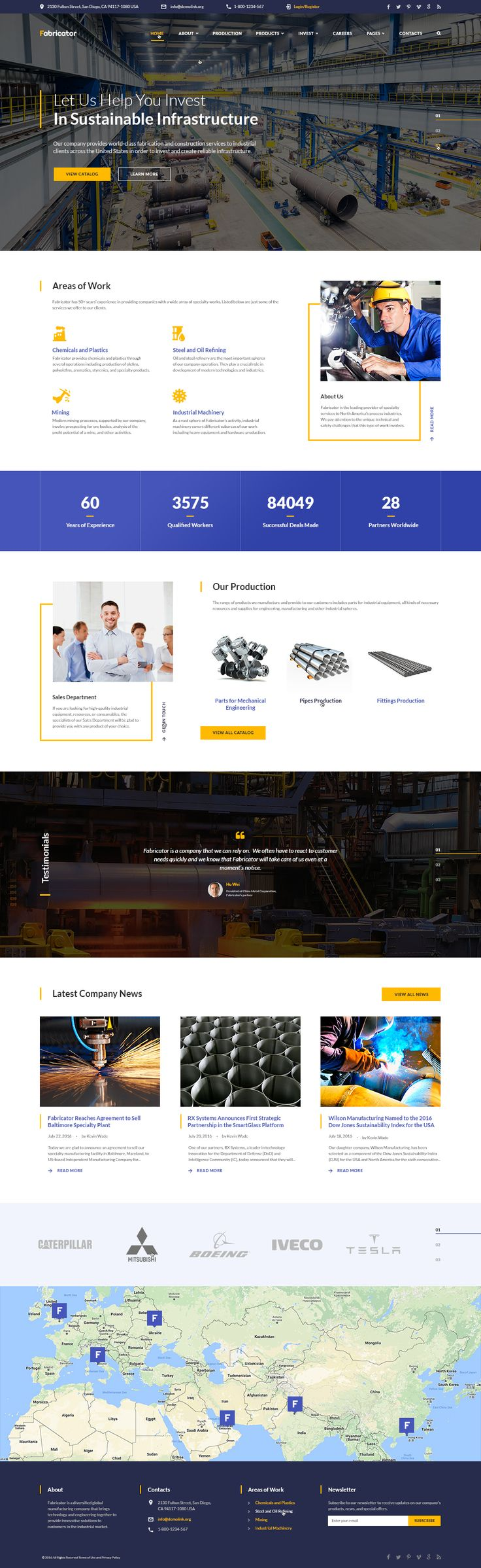 Website Template , Fabricator - Industrial Company Multipage