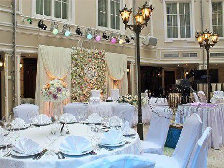 Свадьба в отеле Эмеральд   Оформление свадебного зала