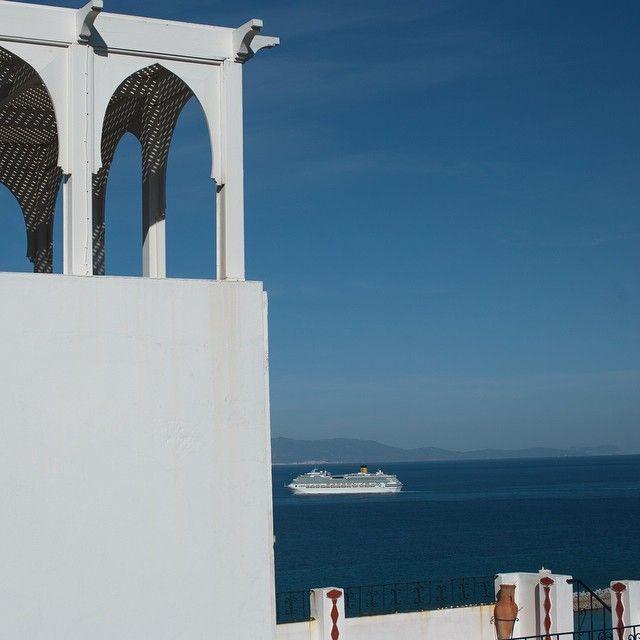 In #Tangier #Tanger #mediterranean #sea #mediterranee #mer #bleu #blue #croisiere #cruise #Maroc #Morocco #travel #voyage #magazine #ipad #nowmaroc