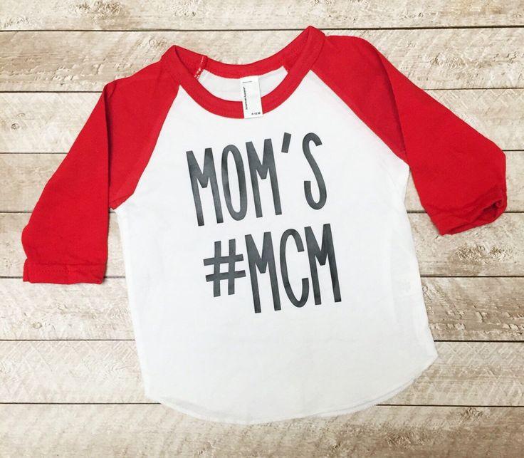 Mom's #MCM Red Raglan Baby Shirt, Baby Boy Shirt, Boy shirt by BellesandBeausInc on Etsy https://www.etsy.com/listing/223086797/moms-mcm-red-raglan-baby-shirt-baby-boy