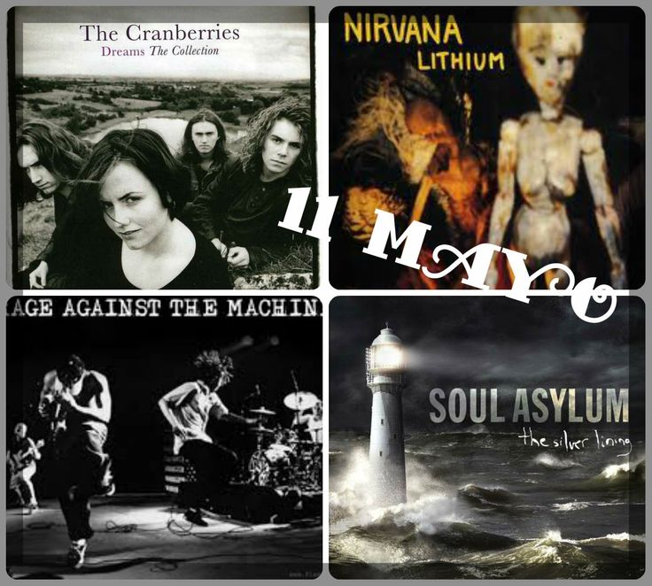 "De los mejores temas pop de los 90's específicamente tocadas a full en 1992 recordamos:  The Cure ""Friday I'm In Love"":  KD Lang ""Constant Graving"": The Smashing Pumpkins ""I Am One"": The Prodigy ""Out Of Space"": Pearl Jam ""Alive"": Soul Asylum ""Runaway Train"": Rage Against The Machine ""Killing In The Name"":  Nirvana ""Lithium"": R.E.M. ""Everybody Hurts"": The Cranberries ""Dreams"":"