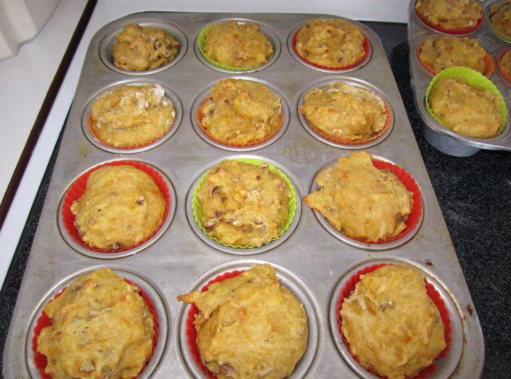 Super yummy yellow squash muffins!