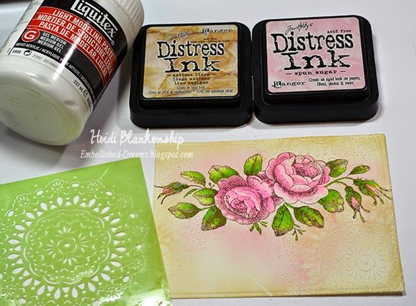 Embellished Dreams: Chameleon Color Tone Markers with JustRite Papercraft Clear Stamps, ButterBeeScraps Filigrees, and a touch of Mixed Media - Love the Simple Things Card