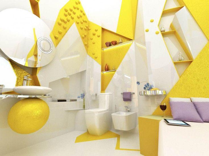 fun interior design with kids bathroom accessories yellow white open plan ensuite bathroom kids bathrooms
