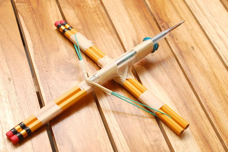How to Make a Small Crossbow out of Household Items via www.wikiHow.com
