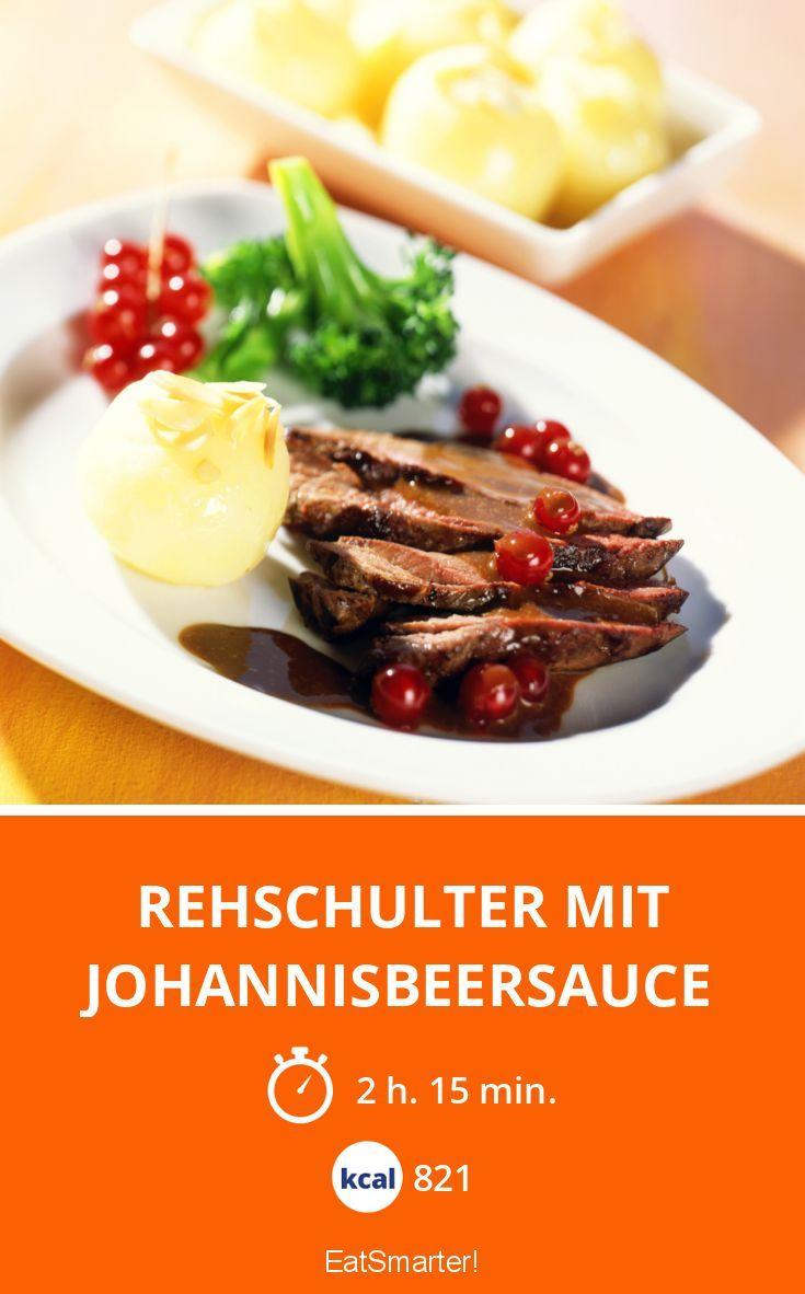 Rehschulter mit Johannisbeersauce - smarter - Kalorien: 821 kcal - Zeit: 2 Std. 15 Min.   eatsmarter.de