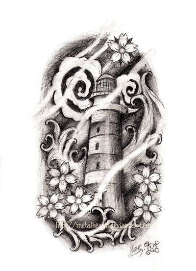 This would make a cool tat ~Japanese style Lighthouse by ~Metalhead99