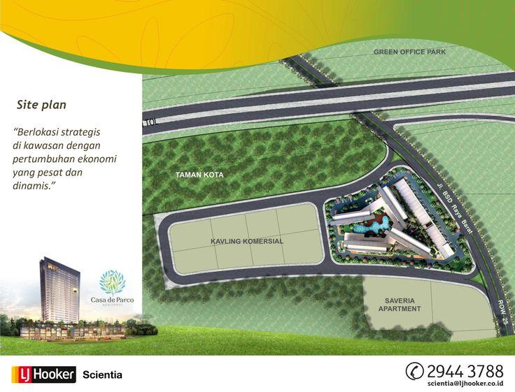SITE PLAN -  MAGNOLIA Tower @ Casa de Parco Apartment, BSD City