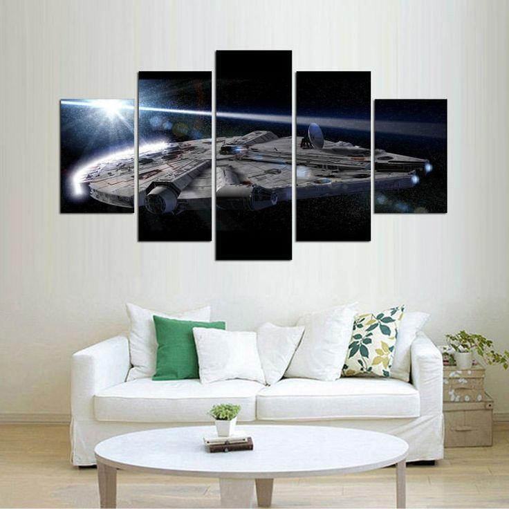 living room art prints%0A   Pcs Star War Movie Home Wall Art Decoracion Canvas Picture Home Decor