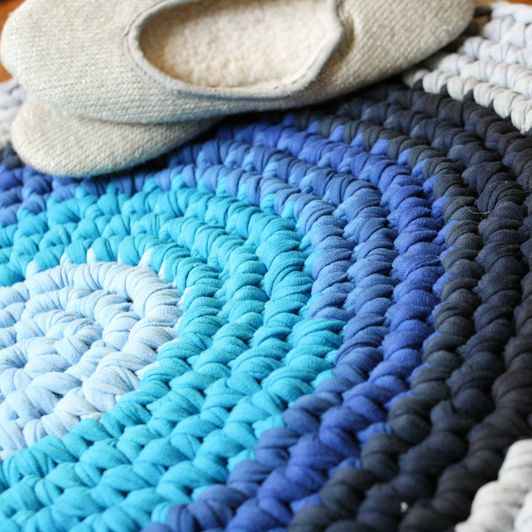 The t-shirt rug. This was a totally accidental craft that turned out way better than I thought. I needed a project that was portable as I was staying with my da…