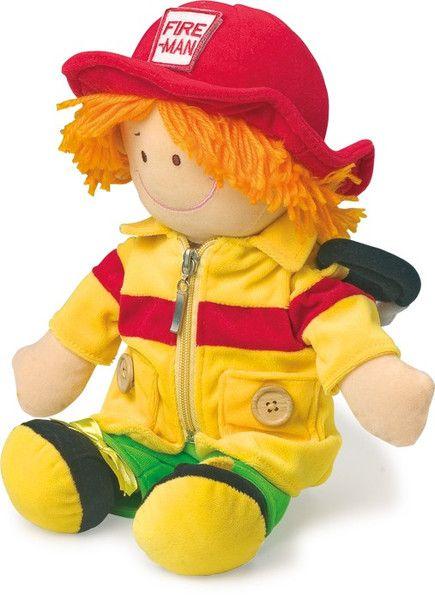 Puppe+Stoffpuppe+Feuerwehrmann+Beruf+von+Schnullerkette+by+baby+name+for+u+auf+DaWanda.com