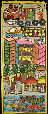 Indigo Arts Gallery | Art from Asia | Indian Folk Painting 2c