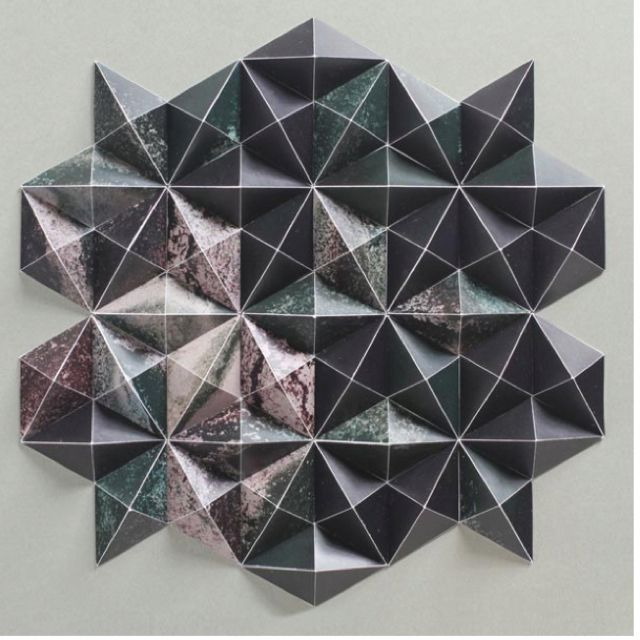Geometric Structures - Matt Shlian. I like the print on this piece of work.