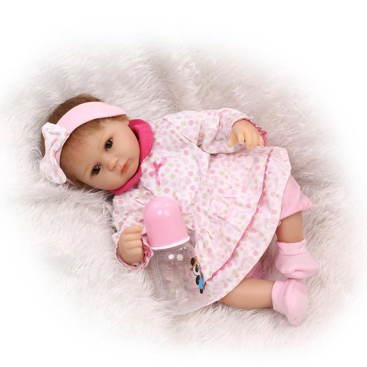 56.06$  Buy here - http://aliv2w.worldwells.pw/go.php?t=32697892368 - 2016 New 16 Inches 42cm Silicone Doll Reborn Baby Kawaii Kids Toys Girls boneca reborn Gift Dolls brinquedos