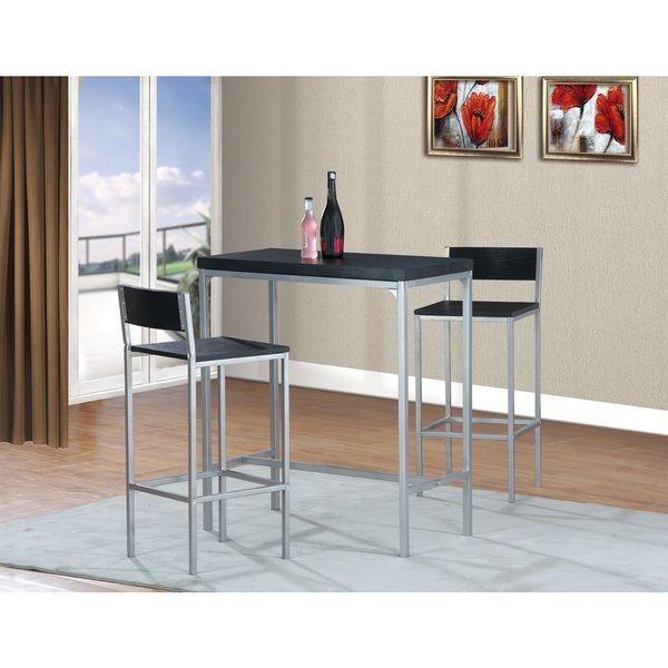 Bar Table Chairs Set Crown Mark Alyssa 3 Piece Bar Table: 1000+ Ideas About High Bar Table On Pinterest