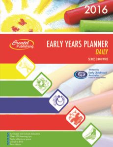 The early years daily planner is our popular diary for early childhood educators and teachers in the early years of primary school. This 2016 version has a practical layout that includes ample writing space for recording reflections, notes, meetings, focuses, interactions and learning experiences.