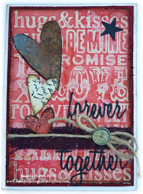 Bumblebees and Butterflies: Tim Holtz stamp