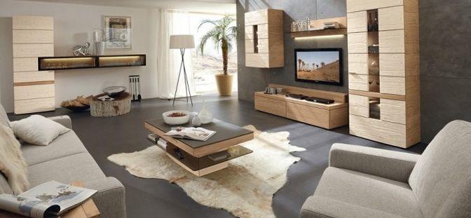 10 hermosas salas de estar modernas ideas de decoracion . Piso oscuro y muebles madera clara