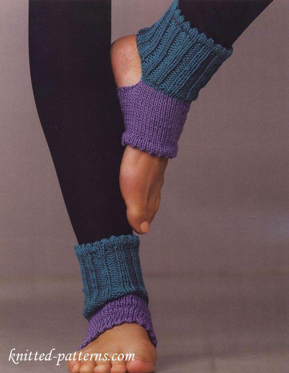 Open-toe and -heel socks: free knitting pattern: