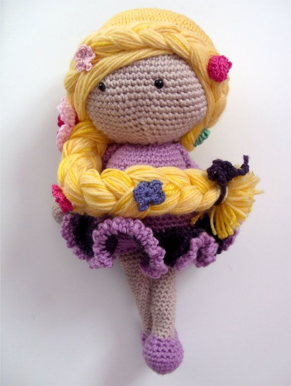 Amigurumi Star Wars Patrones Gratis : Tangled Rapunzel Crochet Doll Rapunzel, Tangled rapunzel ...