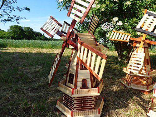 http://ift.tt/1QBVQdR Handwerker windmühle Gartenwindmühle 100 cm zweistöckig MIT 2 BALKONEN garten windmühlen Windfahne / Windrad o. SOLAR o. Außenbeleuchtung WMH100he-OS 1 m groß hellbraun braun @Reviewvasii$$