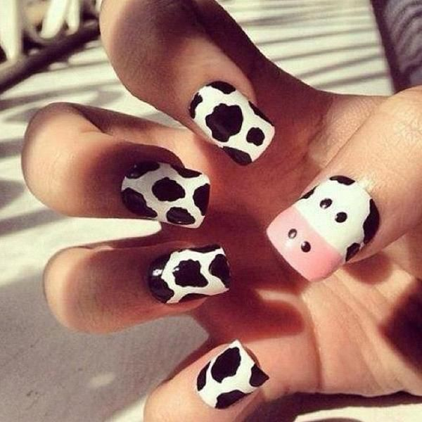 I found 'Cow Nail Art' on Wish, check it out!