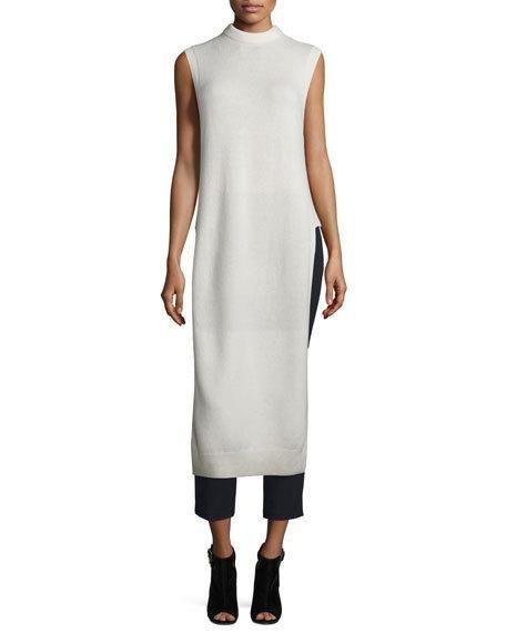 T BY ALEXANDER WANG Long Wool-Blend Dickey, Ivory. #tbyalexanderwang #cloth #