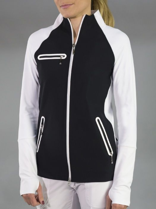 Check out what #lorisgolfshoppe has for your days on and off the golf course: Barossa (Black & White) JoFit Ladies & Plus Size Stellar Golf Jacket