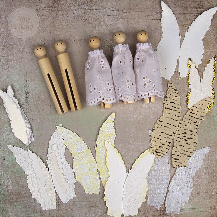 As soon as I start Christmas crafting, I get a bit mixed media.  While I may sew for the rest of the year, I break out the paint and hot glue about this time every year. As soon as I saw Tim Holtz 'Layered Angel Wings die, I knew I had to make clothespin angels. I have such …