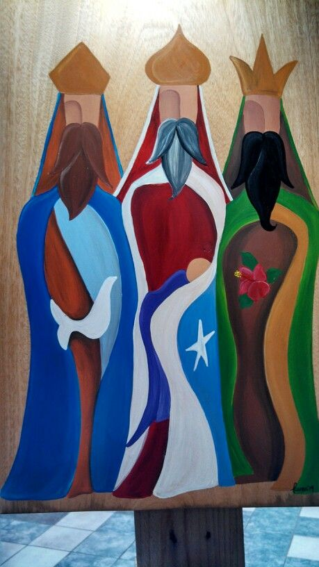 Puerto Rico three wise men....hand paited by Laura Rodriguez