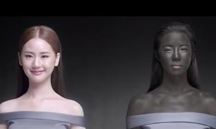 Thai ad with 'white makes you win' message lambasted for racism: Online advertisement for skin-whitening pills shows Thai model slowly turning black and saying she owes her success to having white skin