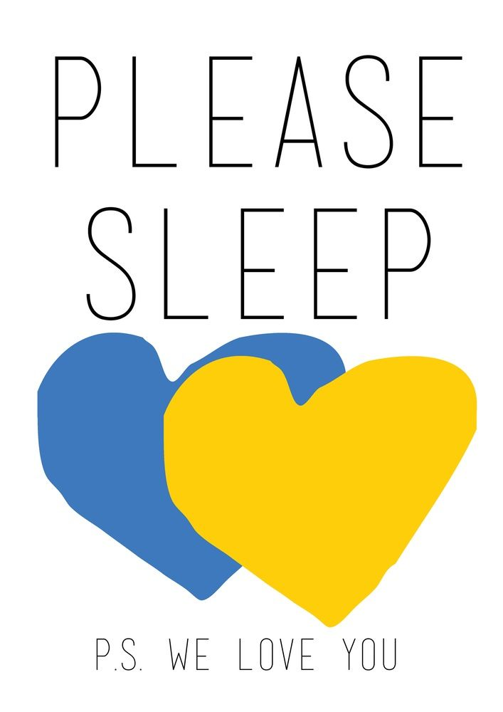 Please Sleep | Blue & Yellow Hello Yellow