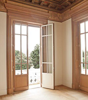Finestre in legno bicolore
