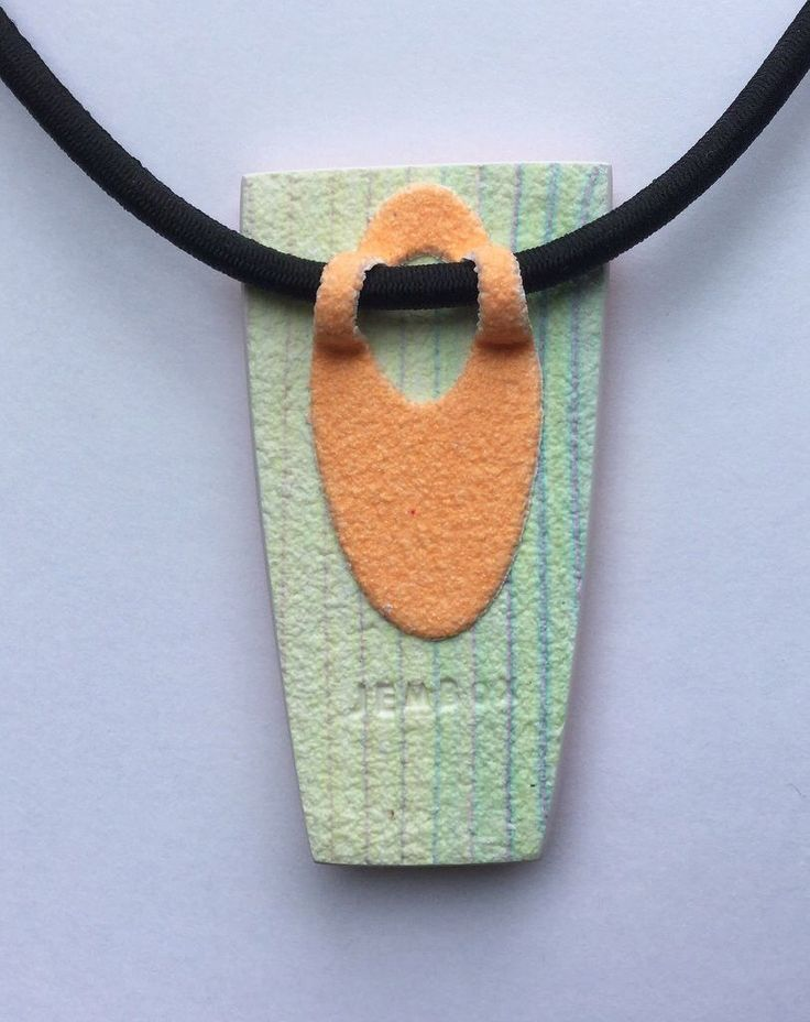Image result for made a pendant bail from polymer clay